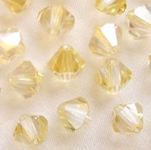 6mm Preciosa Crystal Bicone Crystal Blond Flare - 72